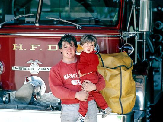 Joseph DiMaggio III & Dylan Fire Truck 2  3e