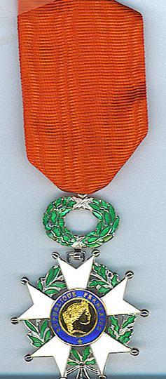 Knight Medal of the French Legion d'honneur