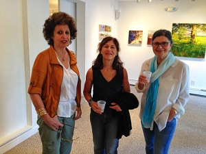 Amy Bridge Publisher and Editor of Milford Journal, JoAnne Kalish & Eileen Rachelson