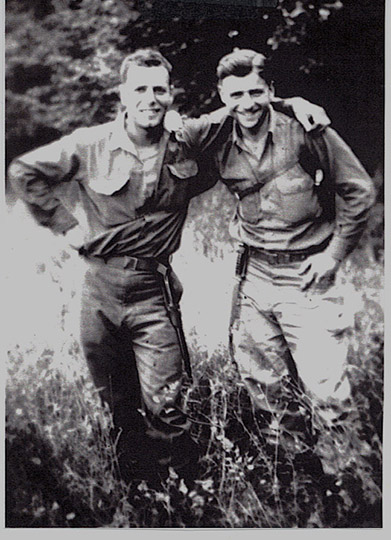 Corporal Jess Weiss and Herb Siegel